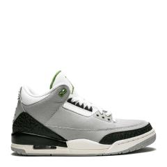 Nike AIR JORDAN 3 AJ3 叶绿素 手稿灰绿 男女情侣篮球鞋 136064-006 398614-006图片