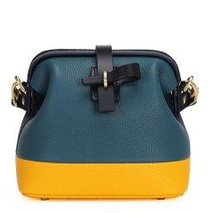 【DesignerBags】BENbySONG/BENbySONG拼色荔枝纹牛皮大迷你医生包女士斜挎包小包包图片
