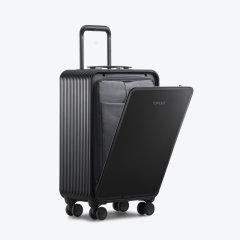 TUPLUS/途加 即刻系列 全铝镁合金拉杆箱行李箱  铝框20寸旅行箱 金属万向轮商务登机箱  曜石黑 适用人群:女士,男士图片