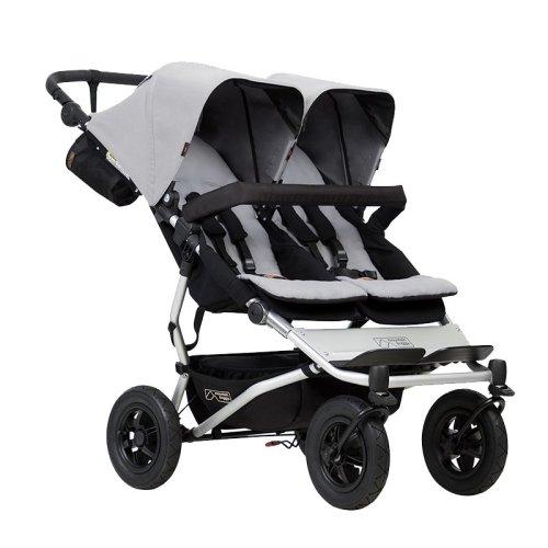 Mountain Buggy duet新西兰双胞胎婴儿推车可坐可躺高景观便携式可折叠二胎双人推车