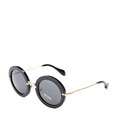 miumiu(缪缪) 黑色边框圆形太阳眼镜