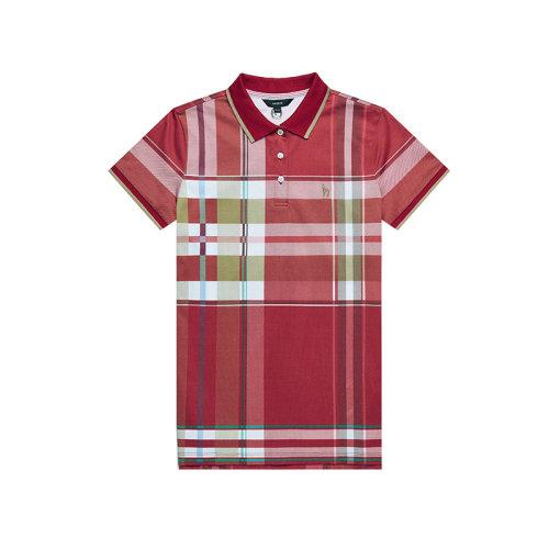 HAZZYS/哈吉斯 2019年夏季新款女装格子女士短POLO衫短袖T恤ASTSE09BE21