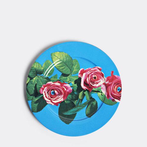 莳乐谛/SELETTI 19年春夏 Toiletpaper dinner plate 系列 盘子 印花 创意 单件装 通用 【WallpaperSTORE*】 蓝色 餐具 16925.0
