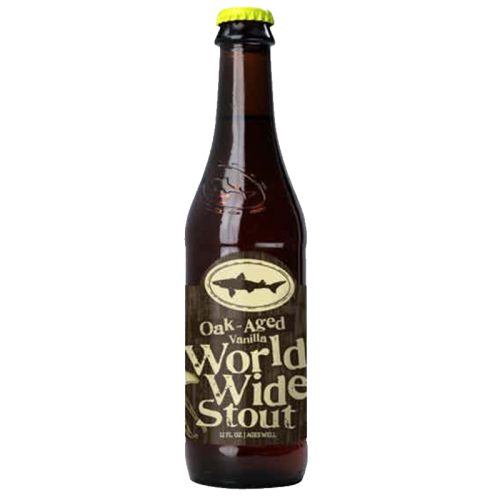 美国进口精酿 角头鲨世界世涛啤酒 DOGFISH HEAD WORLD WIDE STOUT 355mL