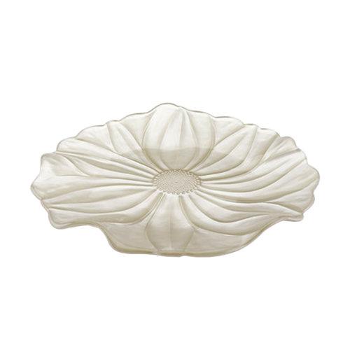 意大利进口IVV家用彩色沙拉水果盘无铅玻璃婚庆客厅摆件创意欧式 珍珠红果盘
