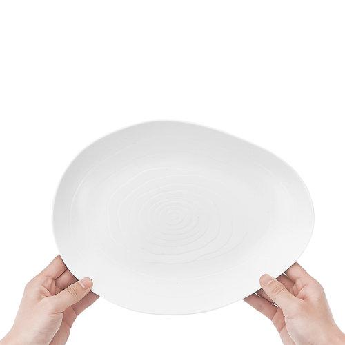 玛戈隆特 行云系列家用平盘汤盘汤菜碗 亚光白餐具散件自选礼盒装