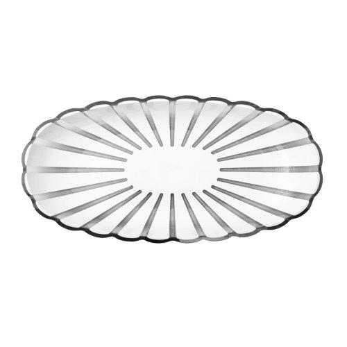 意大利进口花瓣托盘 时尚靓丽餐具 利快guzzini食品水果盘水具盛放托盘 (38*19*h4.5cm)