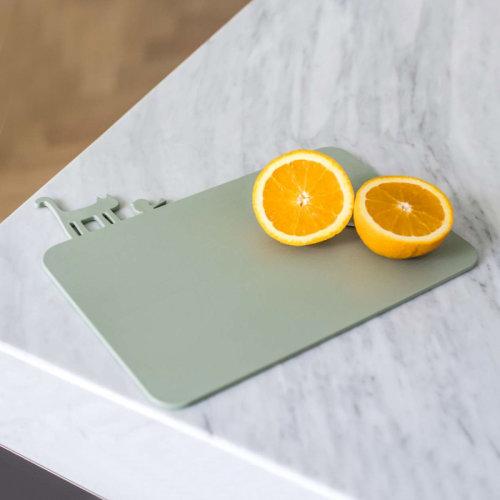 koziol德国进口卡通树脂水果板 儿童辅食切菜板 便携砧板小案板(25*19.2*0.7cm)