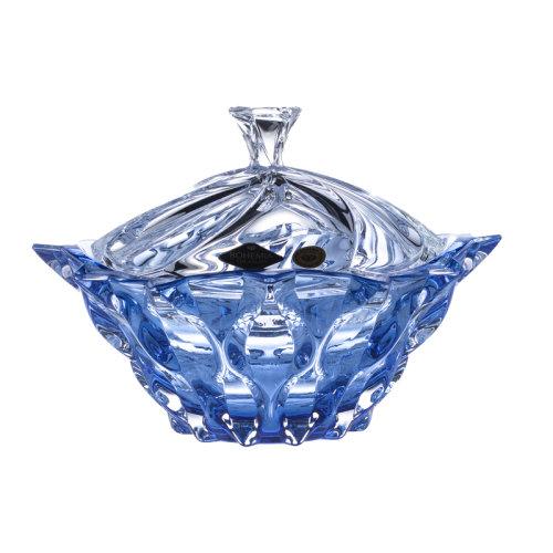 捷克原装进口BOHEMIA水晶玻璃北欧水果盘客厅奢华果盒糖缸干果盒