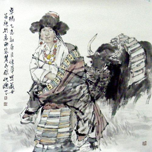 女系列3 传统水墨 写意人物 寺库网
