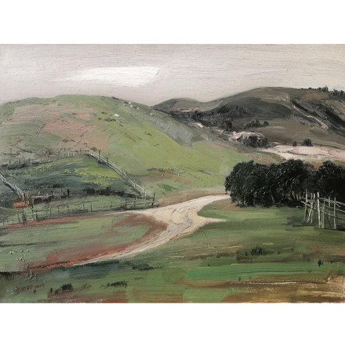 宫向阳《内蒙多伦草原2》布面油画 风景