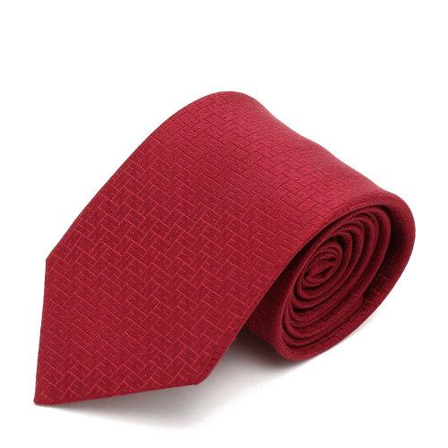 hermes(爱马仕) 红色h花纹领带