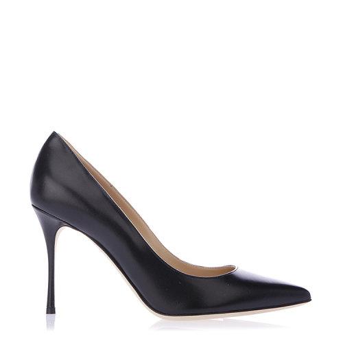 【18春夏】 Sergio Rossi/塞乔·罗西 皮革 时尚 尖头 黑色 高跟鞋 2802 跟高:9cm