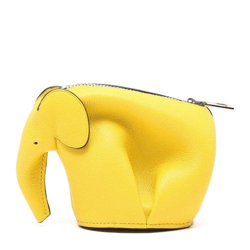 loewe(罗意威) 黄色皮质小象零钱包