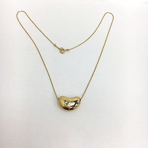 Tiffany Co. 蒂芙尼 Elsa Peretti Bean系列18k黄金超大豆豆项链