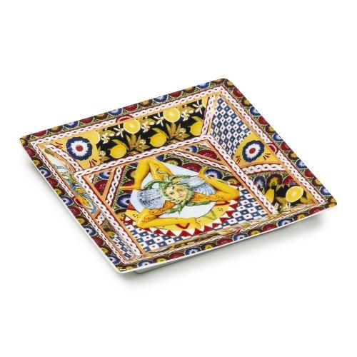PALAIS ROYAL 意大利品牌 瓷器礼盒 餐具盘子 方盘 西西里风格