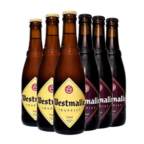 进口啤酒 比利时西麦尔双料三料啤酒 修道院啤酒 Westmalle 6瓶