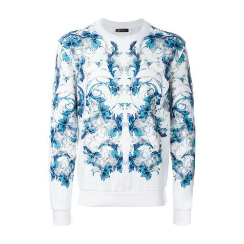 versace/范思哲 蓝花纹 白色 男士卫衣 a71806a218546a72m
