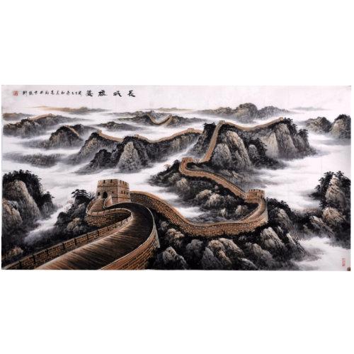 冯高翔《长城雄姿》传统水墨 写意山水