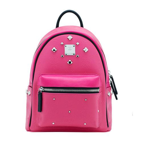 MCM MCM 女士粉红色PVC铆钉拉链双肩包 MMK6SVH45.PU001