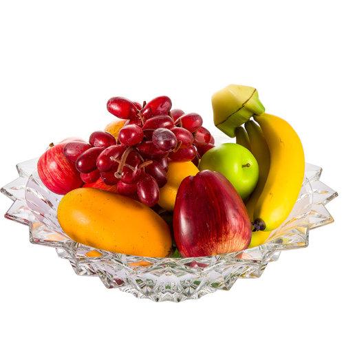 BOHEMIA捷克进口水果盘干果盘水晶玻璃欧式客厅摆件礼盒装