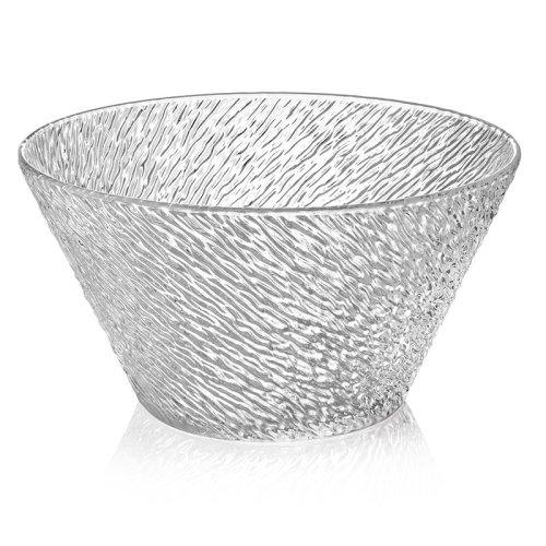 意大利进口IVV彩色手工玻璃碗沙拉碗果碗透明水晶花玻璃碗