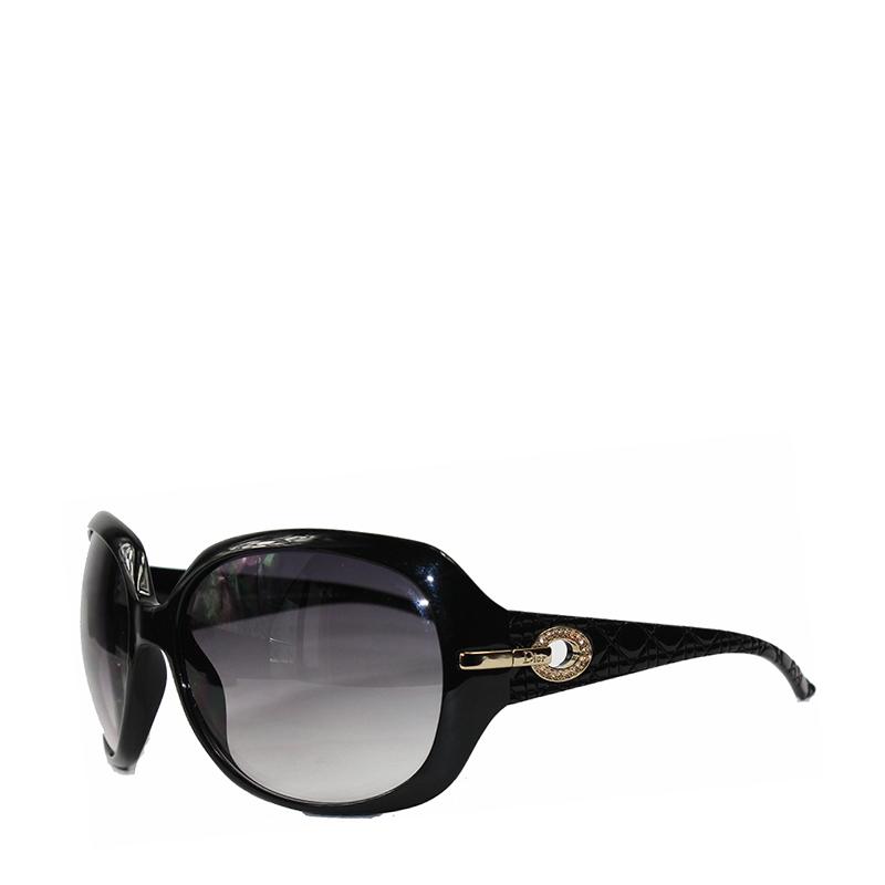 【dior迪奥 眼镜】dior/迪奥黑色框渐变镜片金边镶钻.