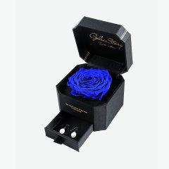 GELEISTORY永生花珠宝轻奢礼盒情人节限量款 送女友 生日礼物 赫本精神紫玫瑰图片