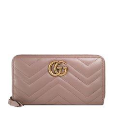 GUCCI/古驰 19春夏 GG Marmont系列 女士牛皮双G长款钱包钱夹图片