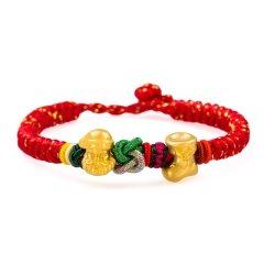 Magifas/Magifas 圣诞限量版 3D硬足金圣诞节限定转运珠编织手链 两款可选图片