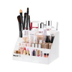 利快化妆品收纳盒日本进口多格段分类收纳盒首饰化妆盒饰品文具盒图片
