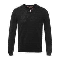 Roberto Cavalli/罗伯图 卡维里 男士针织衫/毛衣 黑色V领男士羊毛衫图片
