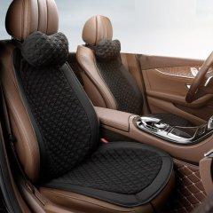 QUEES/乔氏 汽车坐垫座垫  简易安装无靠背 4件套+4头枕 四季通用图片