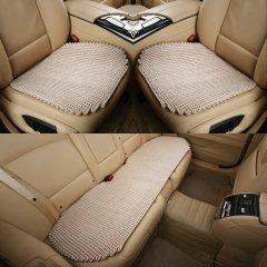 pinganzhe 汽车新款夏季纯手工编织冰丝三件套凉垫 夏季冰丝三件套座垫 汽车座垫 手工编织图片