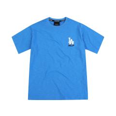 MLB 韩版 男女同款  洛杉矶道奇队 base logo 短袖T恤 31TSSC931图片