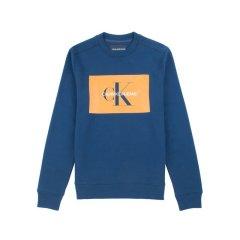 Calvin Klein/卡尔文·克莱因  男士秋冬季新款休闲圆领字母舒适保暖长袖套头卫衣 美码偏大一码 41J7207图片