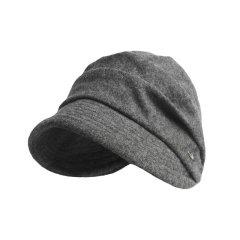 显脸小羊毛呢鸭舌贝雷帽可调节女秋冬英伦百搭蓓蕾帽棉质内里图片