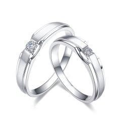 ZOCAI/佐卡伊 白18k金情侣款钻石戒指女男对戒结婚钻戒一对婚戒图片