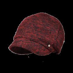 女士秋冬季保暖韩版加绒贝雷帽百搭针织后托堆堆帽子图片