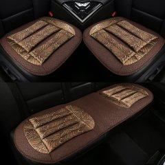 pinganzhe 汽车新款四季通用透气三件套座垫 汽车荞麦壳填充物透气双层坐垫  带腰靠一对图片