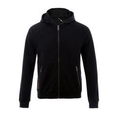 PRADA/普拉达 男士夹克 连帽拼接设计男士黑色夹克图片