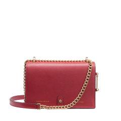 VANESSA HOGAN/VANESSA HOGAN时尚潮流链条包夏季款轻奢牛皮革百搭女士斜挎小包 红色系 均码图片