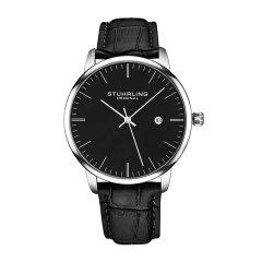 Stührling/施图霖 简约石英日历手表 时尚超薄休闲手表 男士皮带腕表 3997图片
