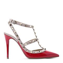 Valentino/华伦天奴 ROCKSTUD 100 女士踝带高跟鞋 S0393 皮革图片