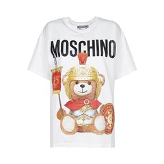 MOSCHINO/莫斯奇诺  19秋冬 泰迪熊图案印花棉质短袖中性男女同款T恤#0703 5540图片