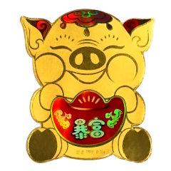 zhaojin/金当家 小财迷系列足金999黄金手机贴(非手机壳) iPhone/华为等均可使用图片