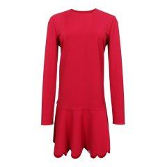 Red Valentino/Red Valentino  红色 黑色 长袖女士连衣裙 QR0VA7W 00VM图片