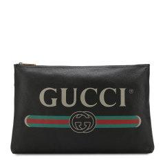【19春夏】GUCCI/古驰  男女同款中性款式黑色双号可选gucci标识印花其它手拿包 500984 0GCAT 8163图片