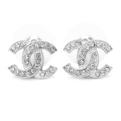 CHANEL/香奈儿  金属双C镶钻女士耳环  A88429 Y02003-BES19F图片