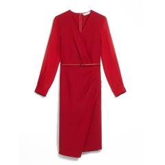 MaxMara/麦丝玛拉  19秋冬女士新款羊毛绉纱连衣裙 两色可选 1226199906022图片